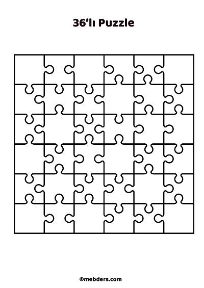 36'lı puzzle şablon