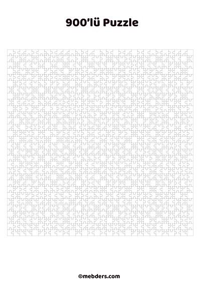 900'lü puzzle şablon
