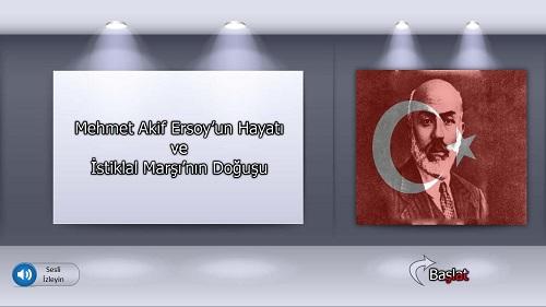 Mehmet Akif Ersoy'un Hayatı ve İstiklal Marşı'nın Doğuşu sesli slaytı