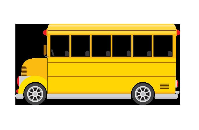 İçi boş okul otobüsü resmi png