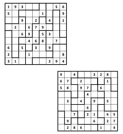 Parçalı Sudoku 2
