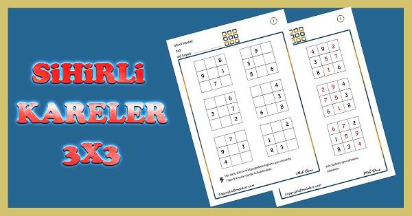 Sihirli Kareler (3x3) Zeka Etkinliği 1