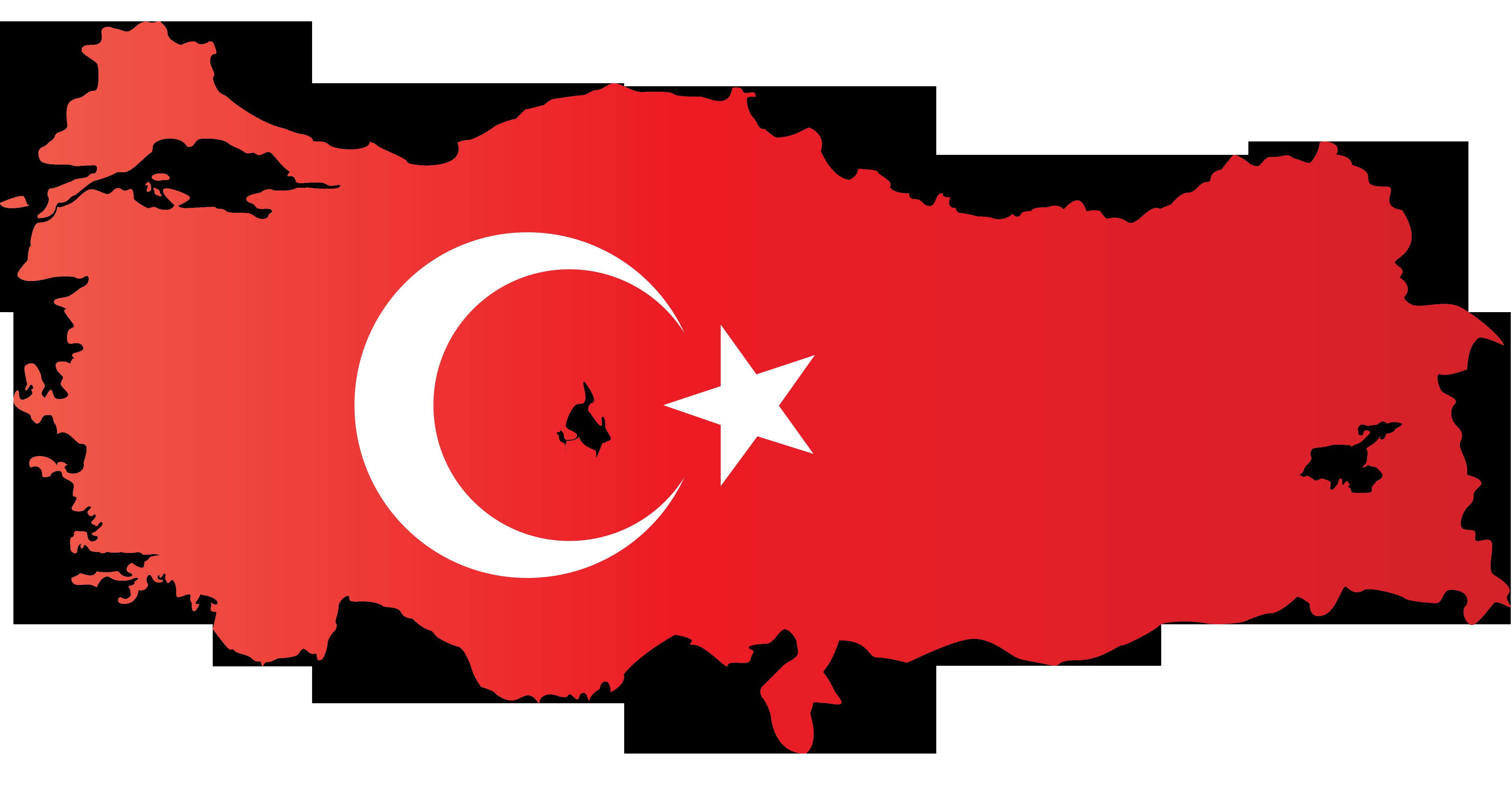 Ay Yildizli Turkiye Haritasi Sablonu Png Formatinda Meb Ders