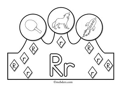 1.Sınıf İlkokuma Harfli Taçlar - R Sesi