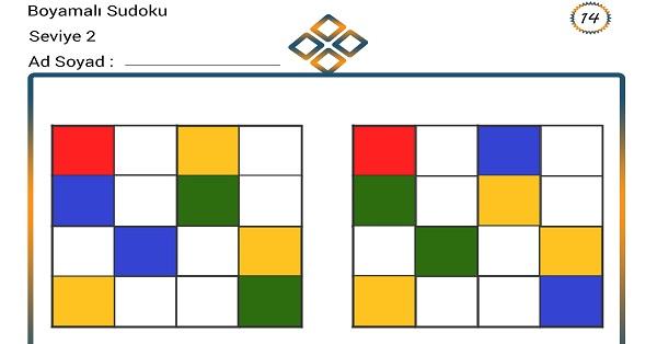 Boyamalı Sudoku 14
