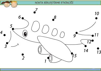 Sevimli uçak nokta birleştirme etkinliği