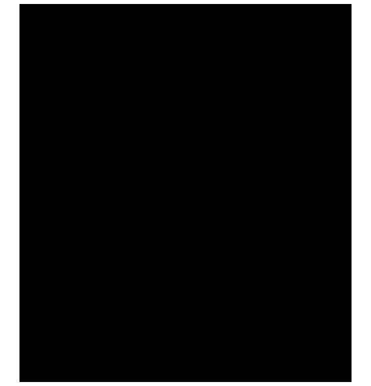 Çift hatlı, köşeleri figürlü png çerçeve resmi