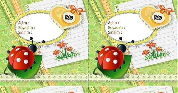 Uğurböcekli, fotoğraf eklemeli yaka kartı