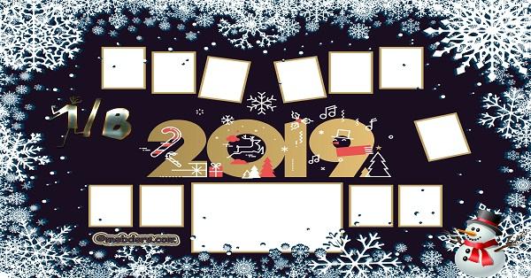 1B Sınıfı için 2019 Yeni Yıl Temalı Fotoğraflı Afiş (11 öğrencilik)