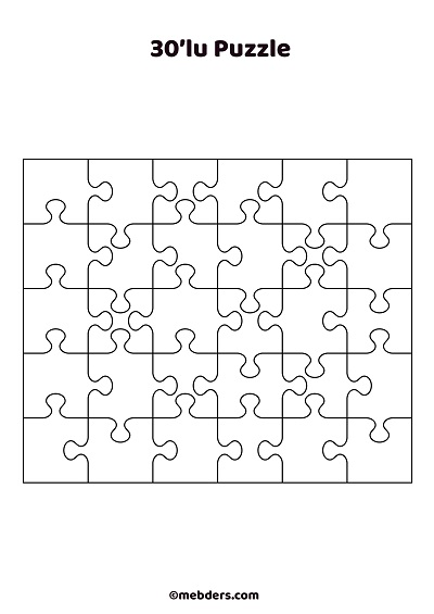 30'lu puzzle şablon 2