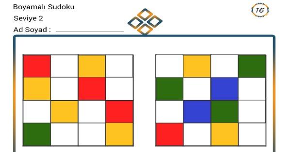 Boyamalı Sudoku 16