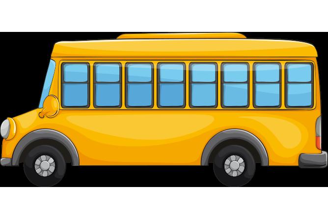Yandan çekilmiş okul otobüsü resmi png