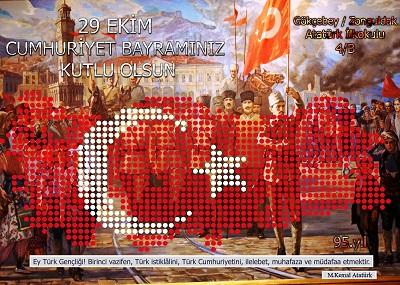 95.Yıl Cumhuriyet Panosu 50x70cm Poster 75