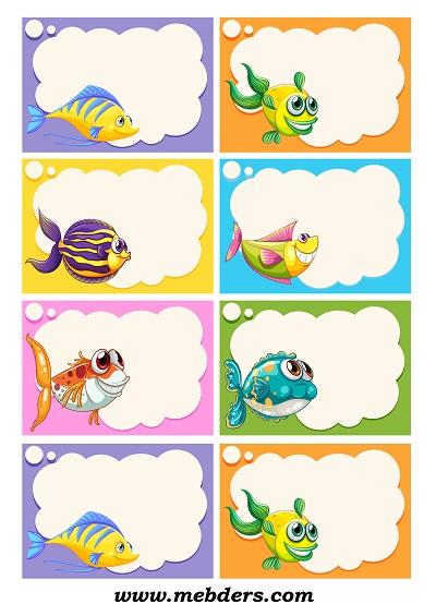 Şirin balıklı yaka kartı