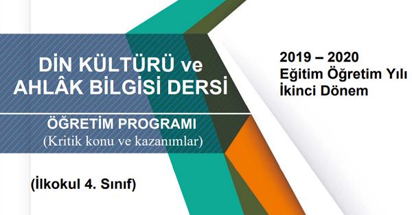 4.Sınıf Din Kültürü ve Ahlak Bilgisi Telafi Programı, Konu ve Kazanımları
