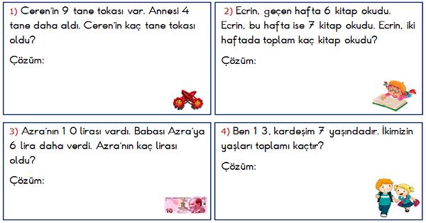 1.Sınıf Toplama İşlemi ile İlgili Problemler 3