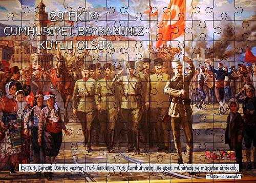 Cumhuriyet Panosu Puzzle Poster (108 Parça)