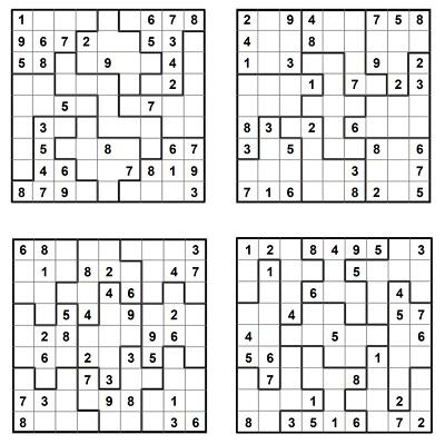 Parçalı Sudoku 4