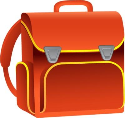 Turuncu renkli okul çantası png