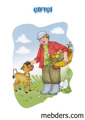 Clipart çiftçi meslek kartı