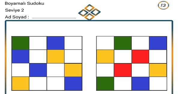 Boyamalı Sudoku 13