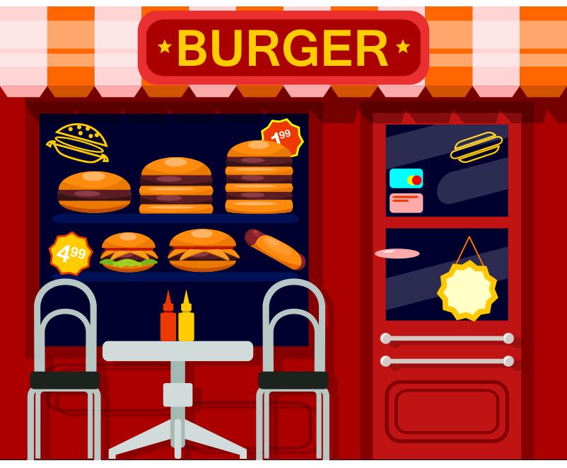Hamburgerci bina resmi png