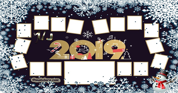 1J Sınıfı için 2019 Yeni Yıl Temalı Fotoğraflı Afiş (16 öğrencilik)