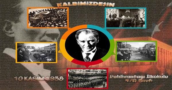 A3 Boyutunda Kalbimizdesin Atatürk Afişi