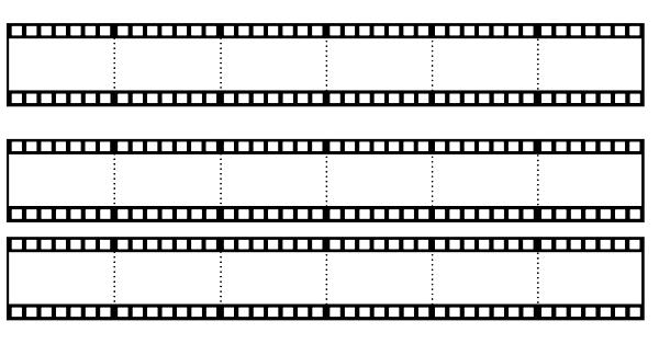 Altılı film şeritli şablon