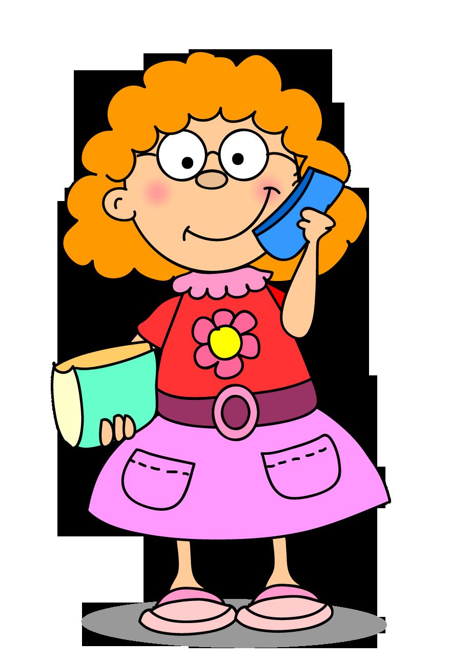 Clipart kıvırcık saçlı kız çocuk resmi png
