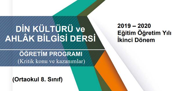 8.Sınıf Din Kültürü ve Ahlak Bilgisi Telafi Programı, Konu ve Kazanımları