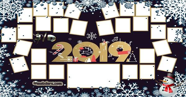 3D Sınıfı için 2019 Yeni Yıl Temalı Fotoğraflı Afiş (28 öğrencilik)