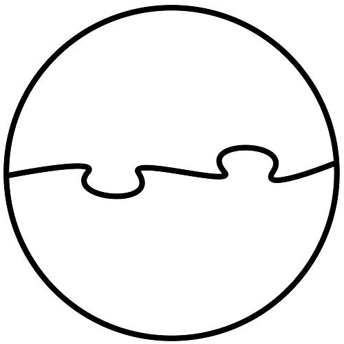 Daire şeklinde yapboz şablonu