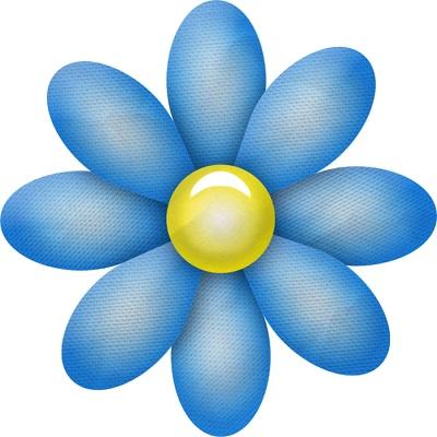 Mavi çiçek yaprağı resmi png