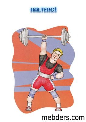 Clipart halterci meslek kartı