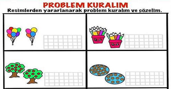 1.Sınıf Matematik Problem Kuralım Etkinliği