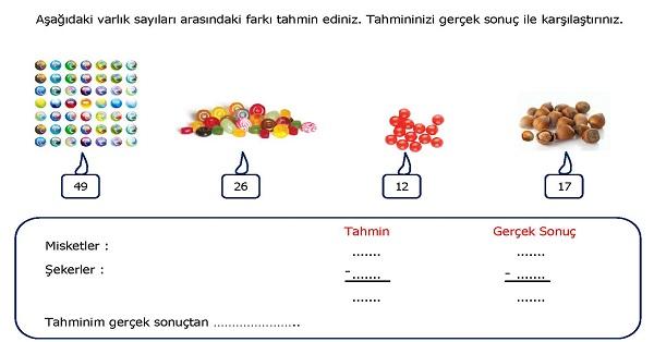 2.Sınıf Matematik Farkı Tahmin Edelim Etkinliği