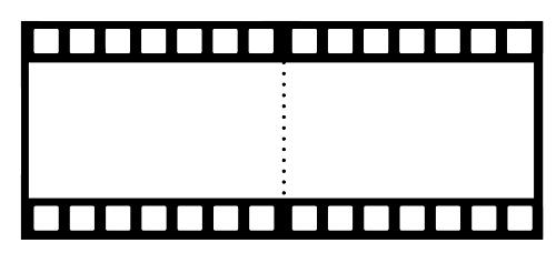 İkili film şeritli şablon