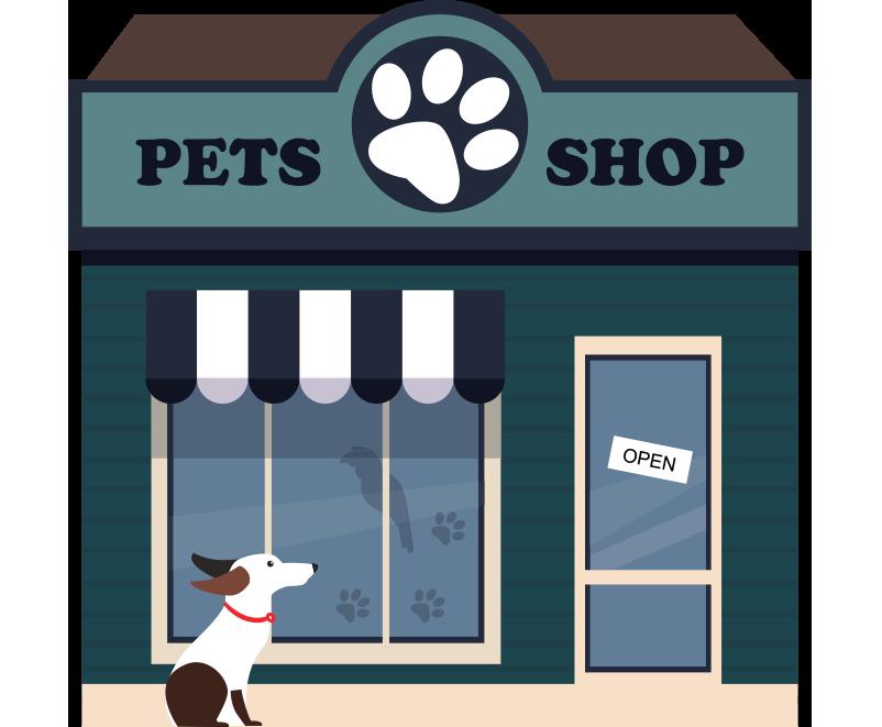 Pets shop hayvan dükkanı bina resmi png