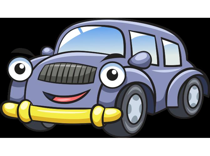 Gülen yüzlü otomobil resmi png