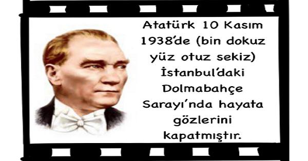 Atatürk'ün Hayatı Etkinliği