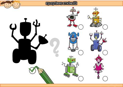 Robot gölgesi eşleştirme etkinliği 2