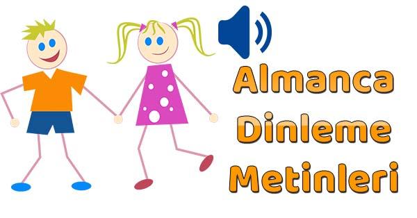 2019-2020 Yılı 4.Sınıf Almanca Dinleme Metinleri - Tüm Ses Dosyaları mp3 (MEB)