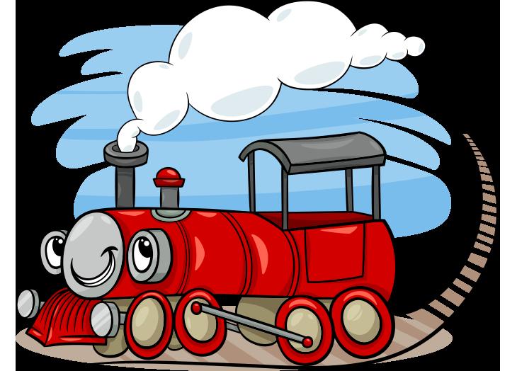 Sevimli kırmızı tren resmi png