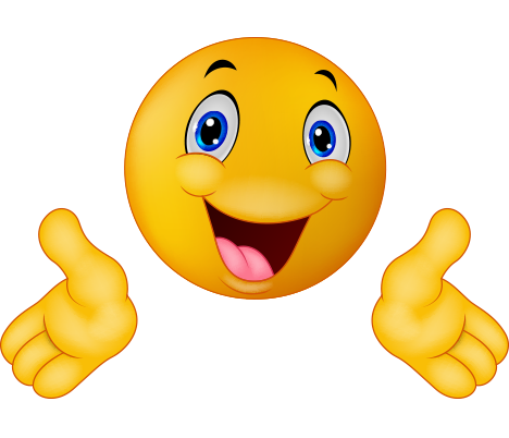 İki elini yana açmış png mutlu emoji resmi