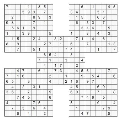 Beşli Samurai Sudoku 3
