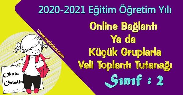 2020-2021 Uzaktan Eğitime Uygun 2.Sınıf Sene Başı Veli Toplantı Tutanağı