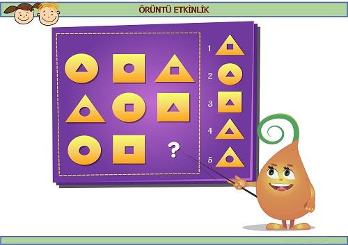 Sırada hangi geometrik şekil var? Eğlenceli matematik etkinliği