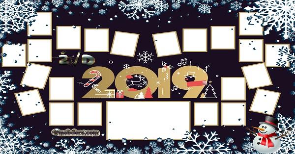 2D Sınıfı için 2019 Yeni Yıl Temalı Fotoğraflı Afiş (22 öğrencilik)