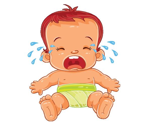 Clipart oturarak ağlayan bebek resmi